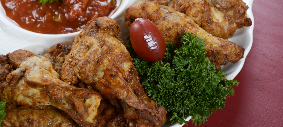 Sports bars should package chicken wings for NCAA Bowl Season tailgate menus.
